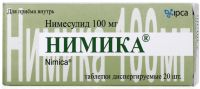 Нимика 100мг таб.дисп. №20 (IPCA LABORATORIES LTD.)