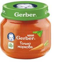 Гербер пюре 80г морковь (GERBER PRODUCTS COMPANY)
