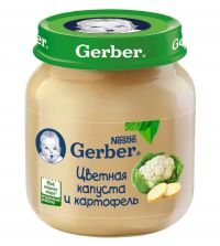 Гербер пюре 130г цв.капуста (GERBER PRODUCTS COMPANY)