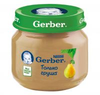 Гербер пюре 80г груша (GERBER PRODUCTS COMPANY)