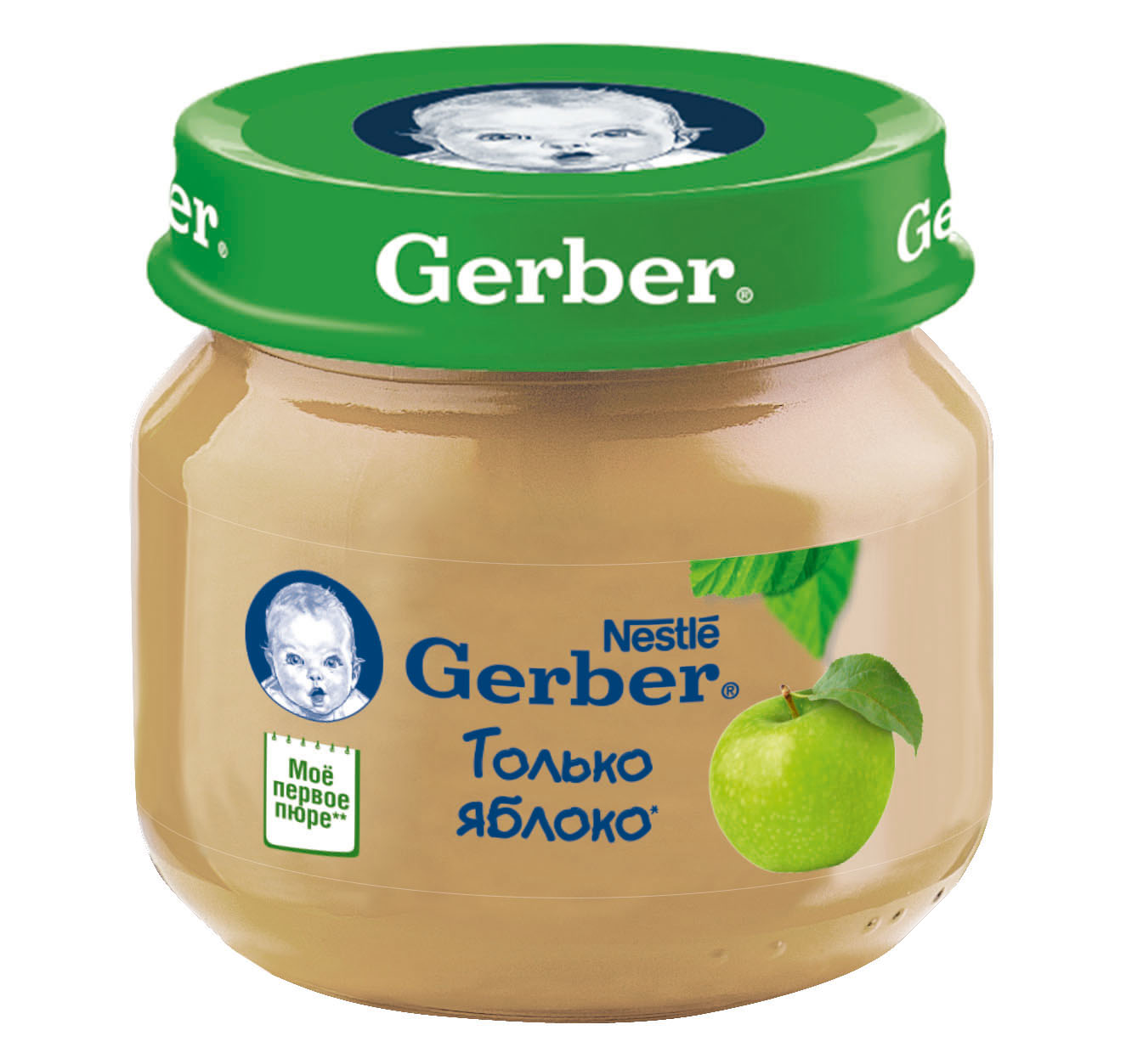 Гербер пюре 80г яблоко (GERBER PRODUCTS COMPANY)