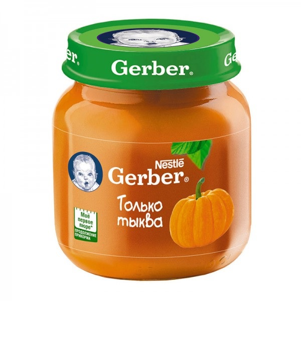 Гербер пюре 130г яблоко тыква (GERBER PRODUCTS COMPANY)